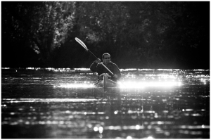 Ending Paddle as sun goes down. Christine Rucker Photo